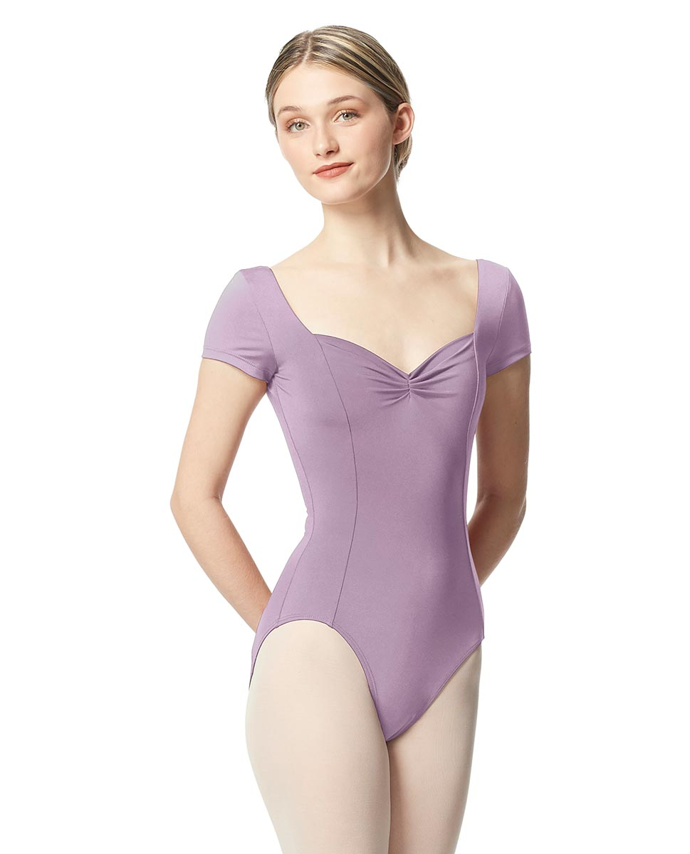 Woman Short Sleeves Leotard Gathered Front Anfisa LIL