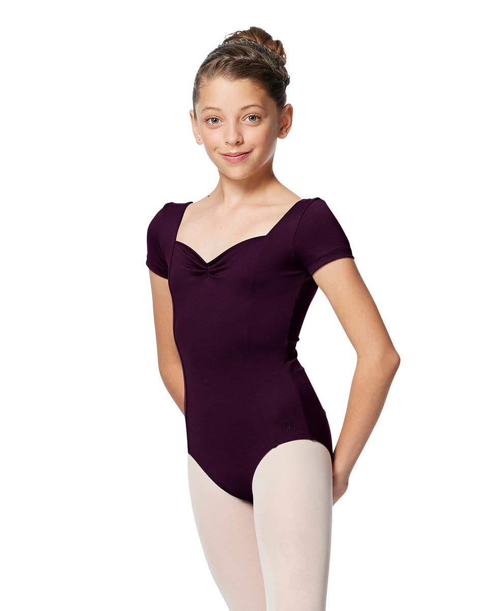 Girls Short Sleeves Ballet Leotard Anfisa AUB