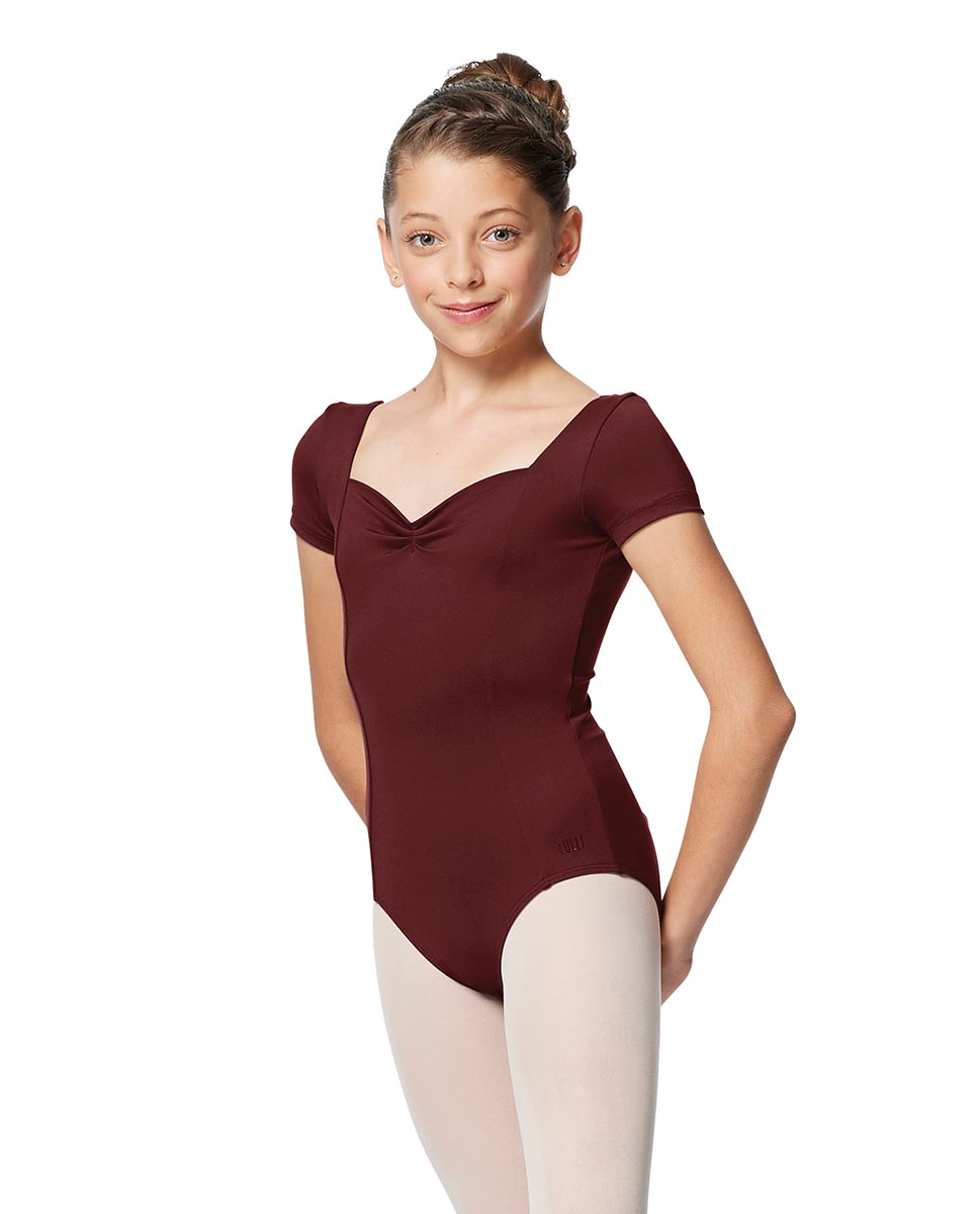 Girls Short Sleeves Ballet Leotard Anfisa BUR