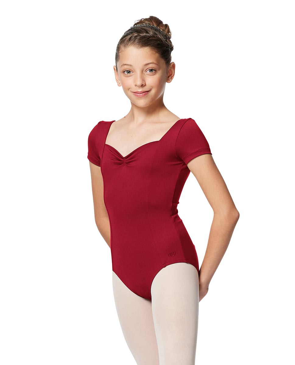 Girls Short Sleeves Ballet Leotard Anfisa DRED