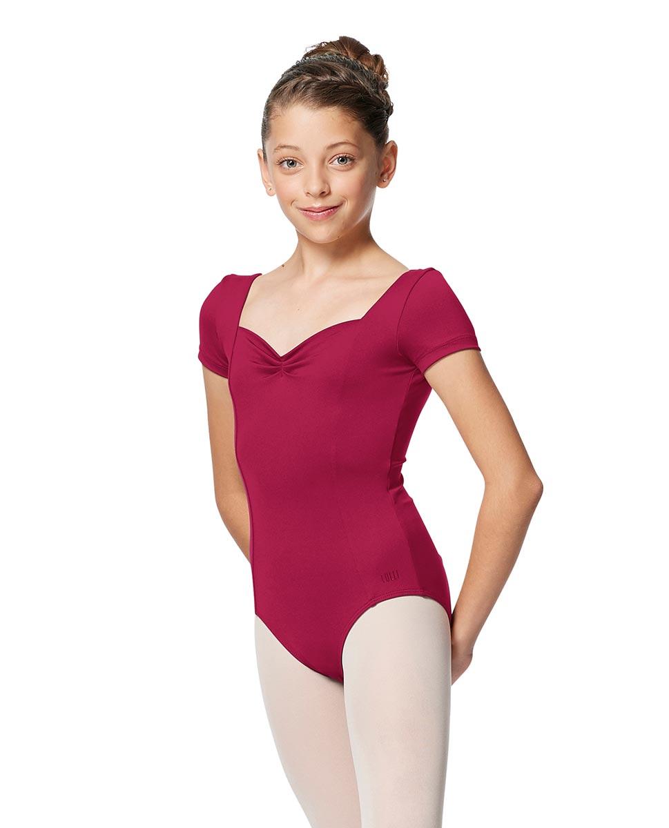Girls Short Sleeves Ballet Leotard Anfisa FUC