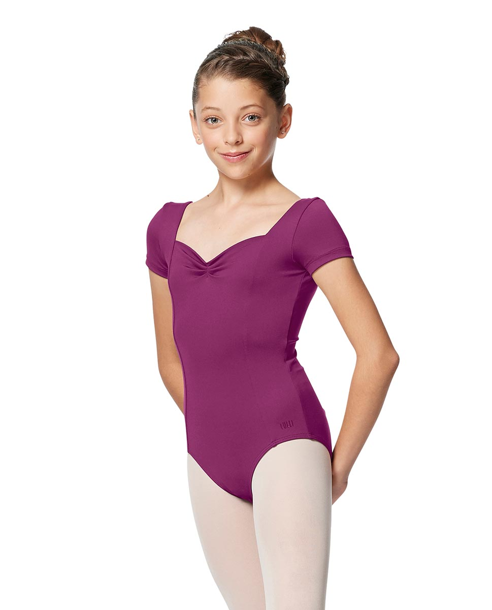 Girls Short Sleeves Ballet Leotard Anfisa GRAP