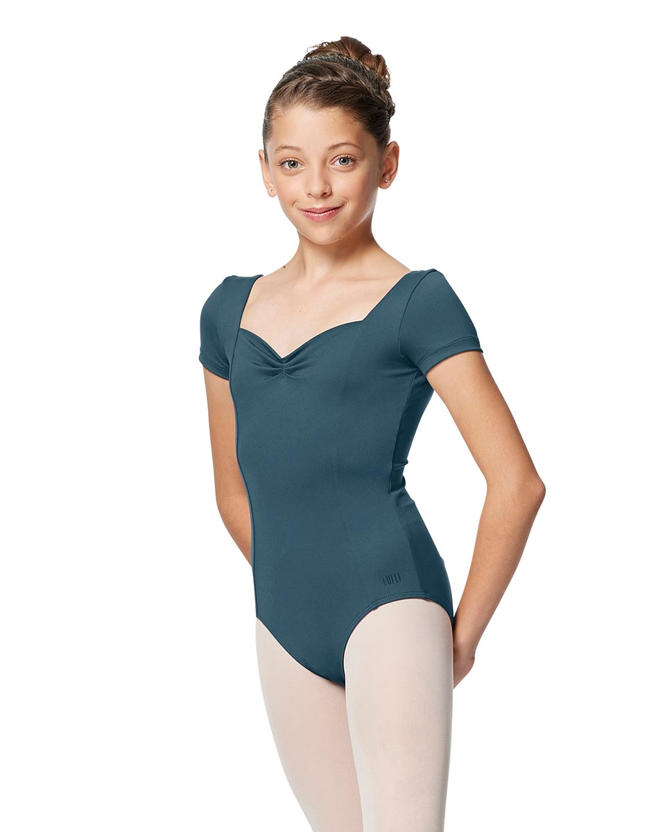 Girls Short Sleeves Ballet Leotard Anfisa JEANS
