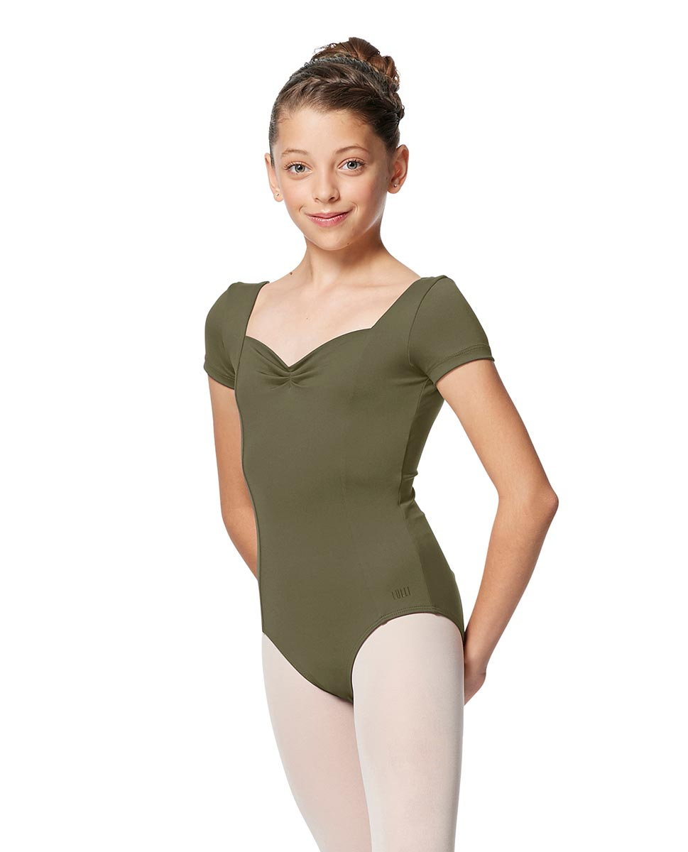 Girls Short Sleeves Ballet Leotard Anfisa KHA