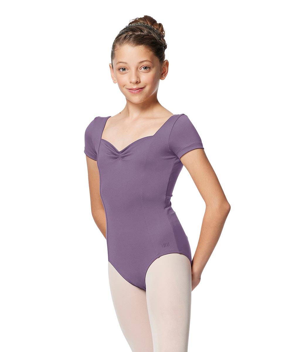 Girls Short Sleeves Ballet Leotard Anfisa LAV