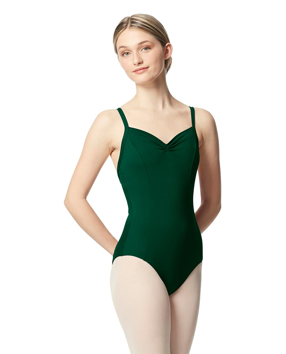 Open Back Camisole Ballet Leotard Darya DGREEN