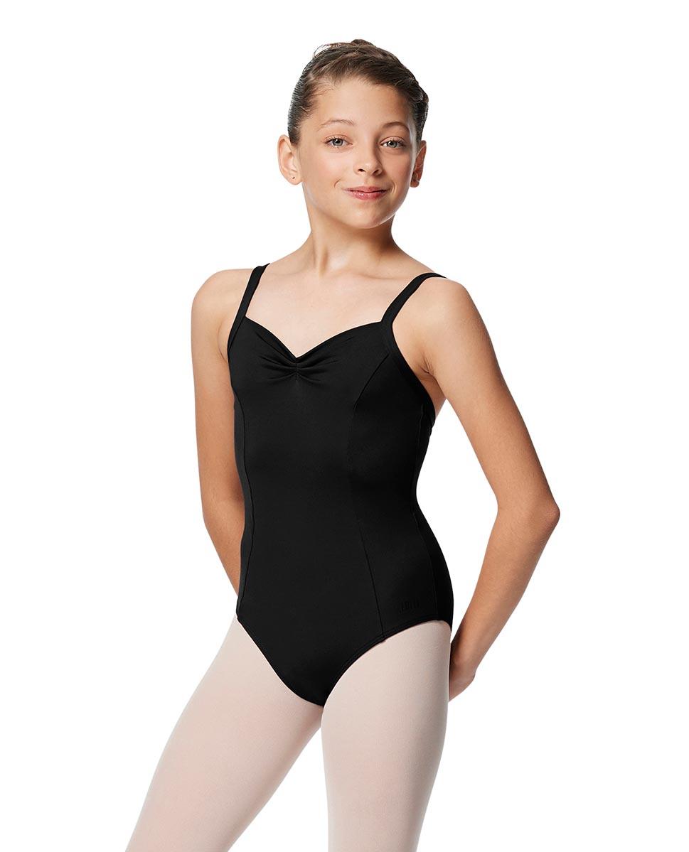 Girls Open Back Camisole Ballet Leotard Darya BLK