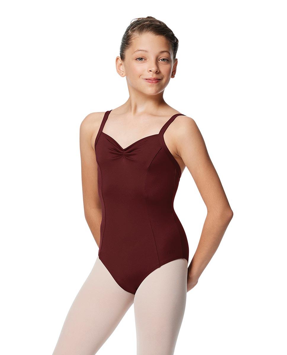 Girls Open Back Camisole Ballet Leotard Darya BUR