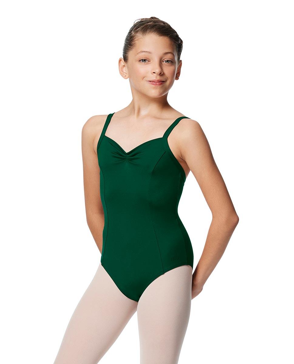 Girls Open Back Camisole Ballet Leotard Darya DGREEN