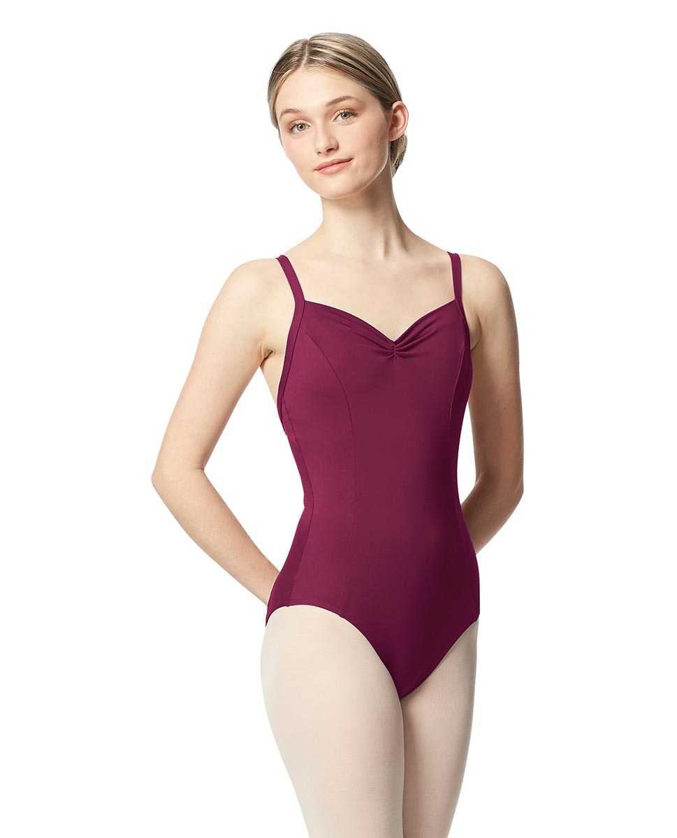 Open Back Camisole Ballet Leotard Darya WINE