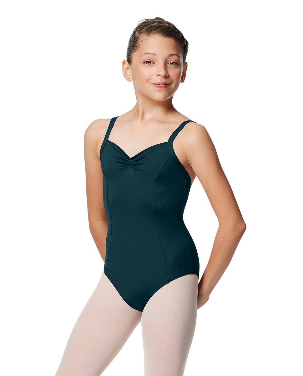 Girls Open Back Camisole Ballet Leotard Darya DTEAL