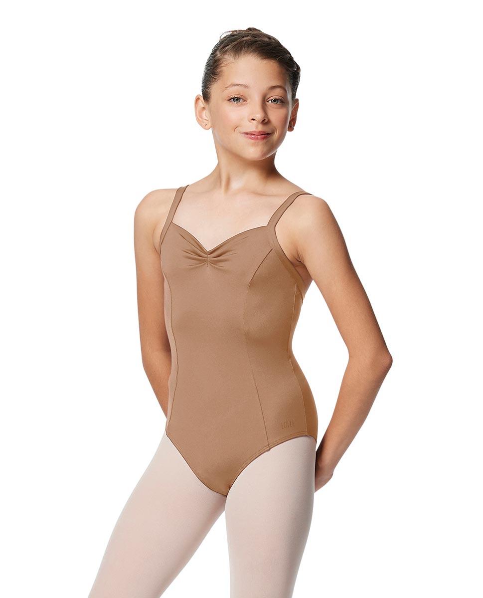 Girls Open Back Camisole Ballet Leotard Darya NUD