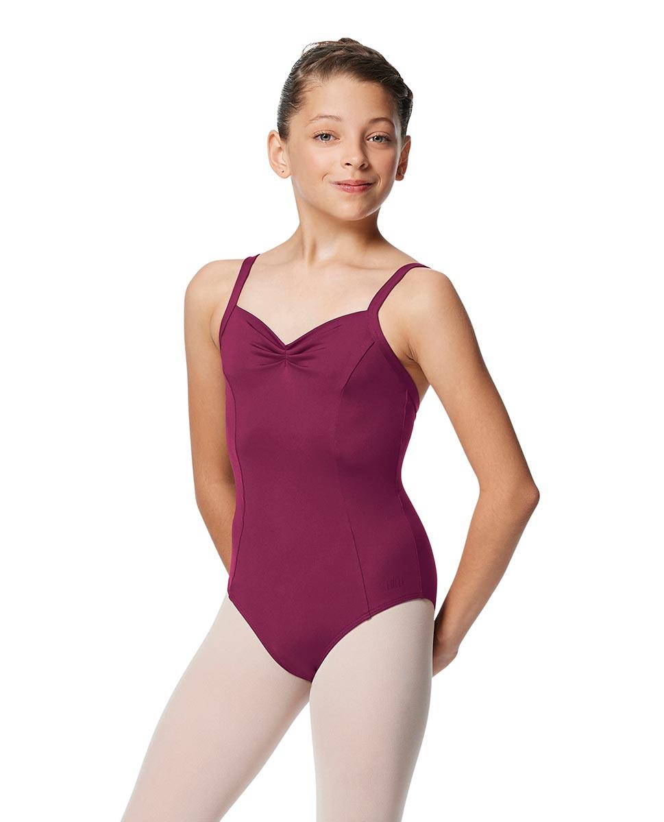 Girls Open Back Camisole Ballet Leotard Darya WINE