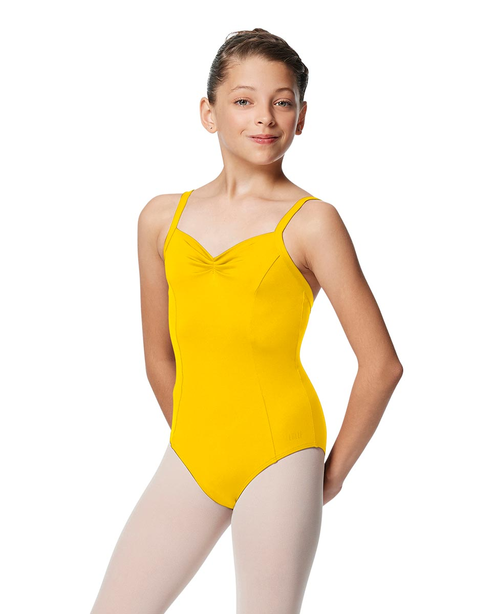 Girls Open Back Camisole Ballet Leotard Darya YEL