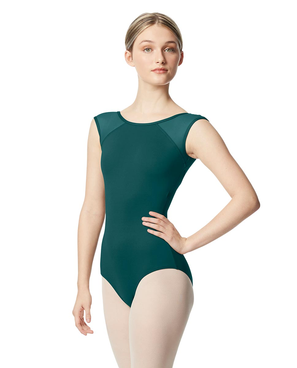 Mesh Cap Sleeve Leotard Nikita  TEA