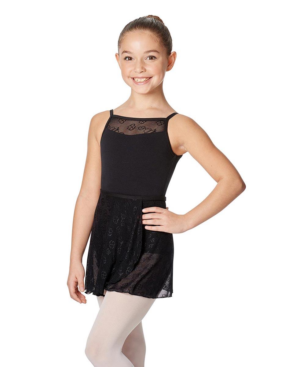 Girls Wrap Mesh Skirt Anya BLK