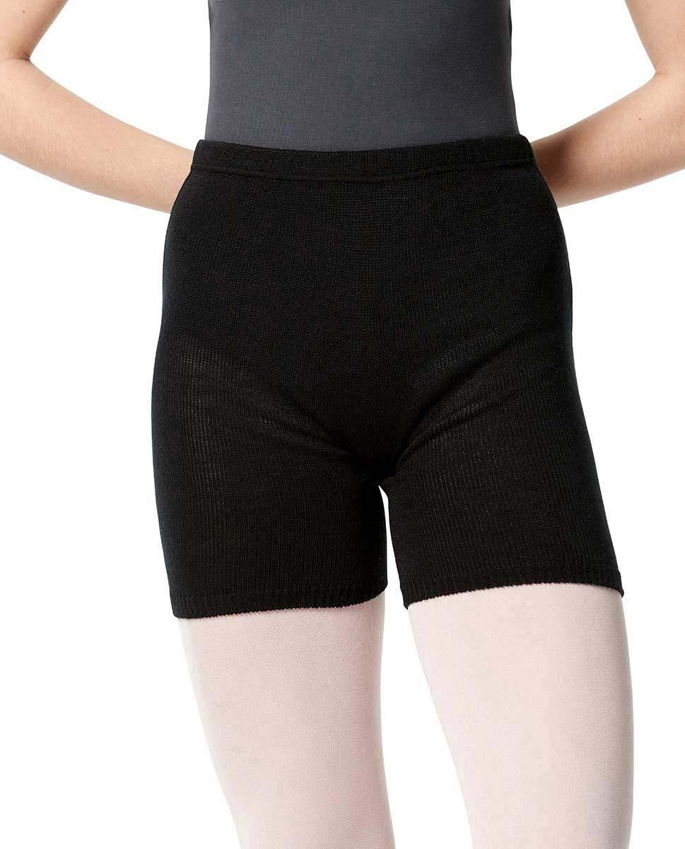 Knit Warm Up Dance Shorts BLK
