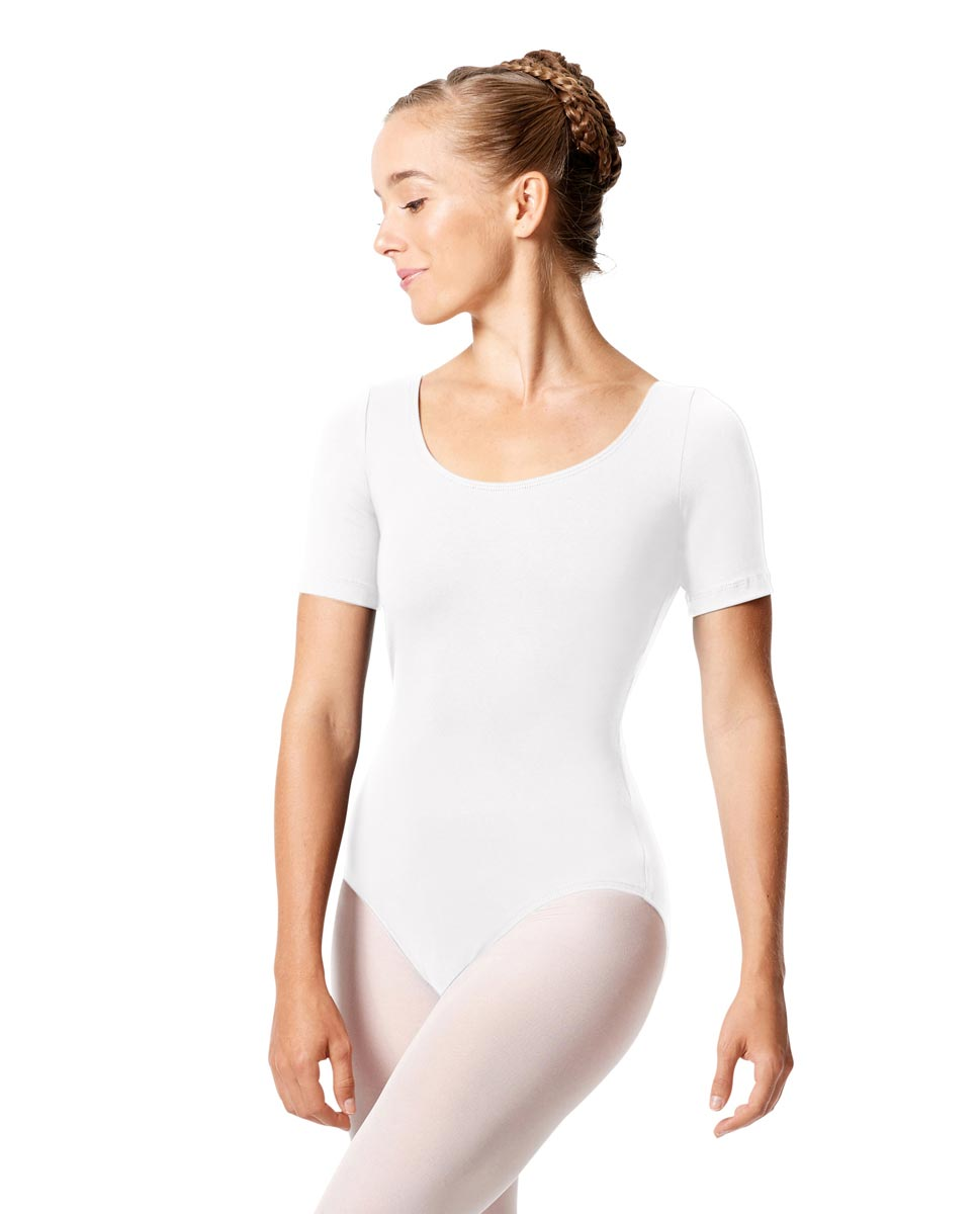 Adult Basic Short Sleeve Ballet Leotard Tina WHI