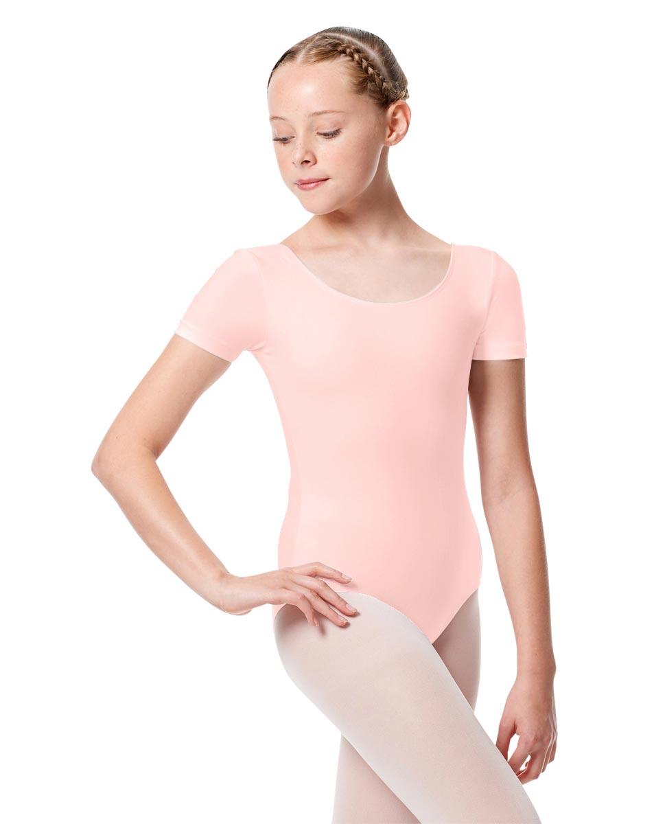 Child Basic Short Sleeve Ballet Leotard Tina BPNK