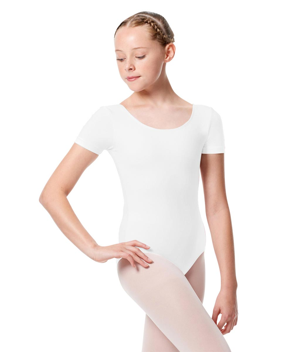 Child Basic Short Sleeve Ballet Leotard Tina WHI
