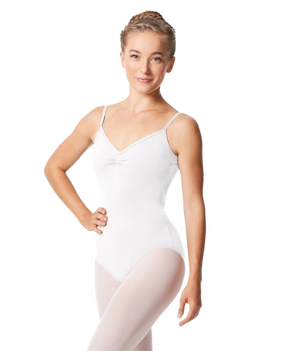 Womens Pinch Camisole Ballet Leotard Faina WHI