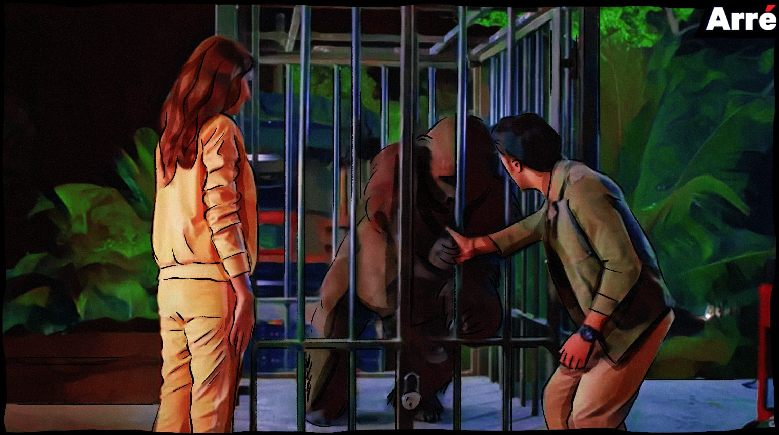 toto the ape caged