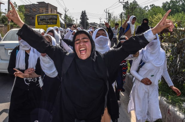 Students Protest Against Indian Forces Attack Continue In Kashmir