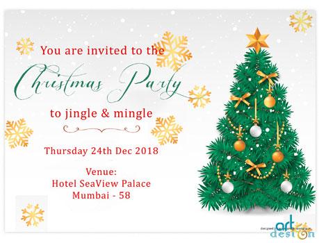 Christmas Invitation.Christmas Party Invitation Card