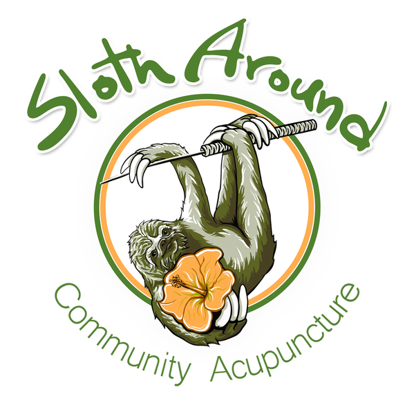 Sloth Around Community Acupuncture logo