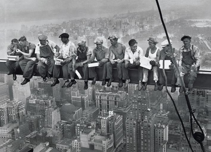 Lunch on a Skyscraper Landscape Poster