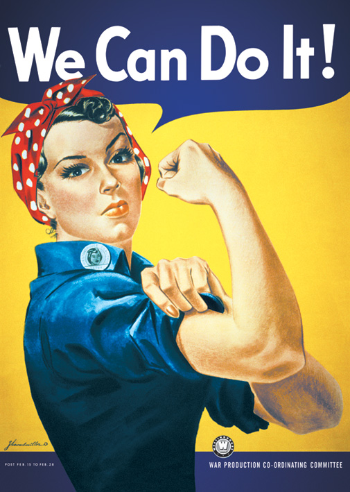 We Can Do It Portrait Poster