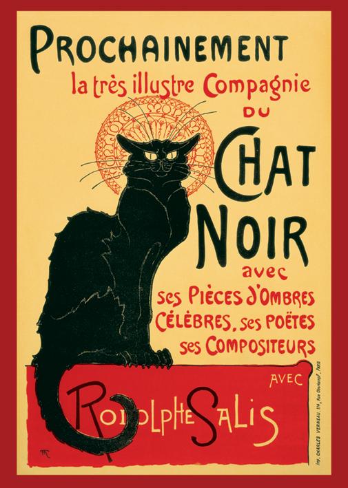 Chat Noir Portrait Poster