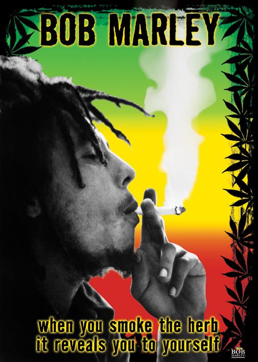 Bob Marley: Herb Portrait Poster