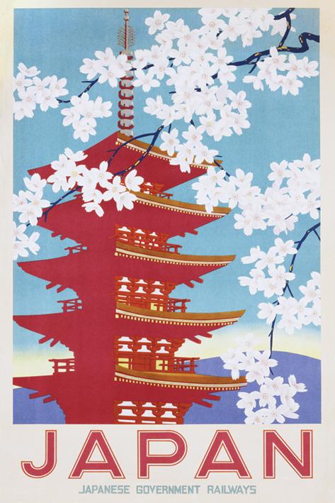 Japan Railways: Blossom Portrait Poster