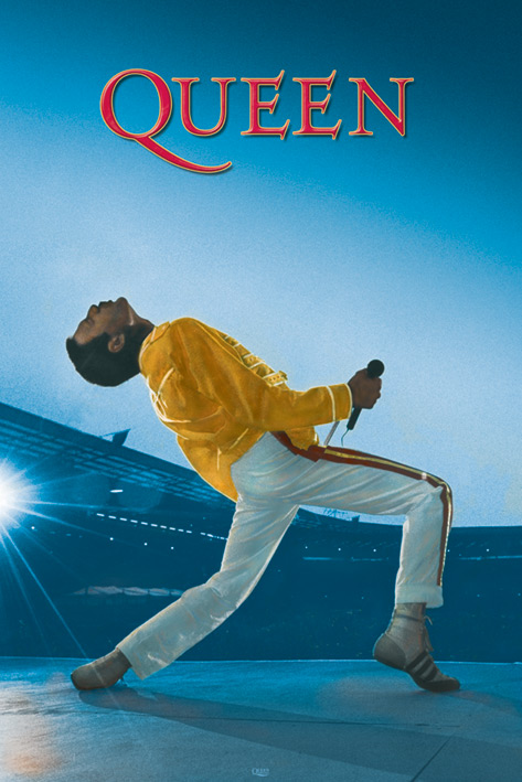 Queen: Live at Wembley Portrait Poster