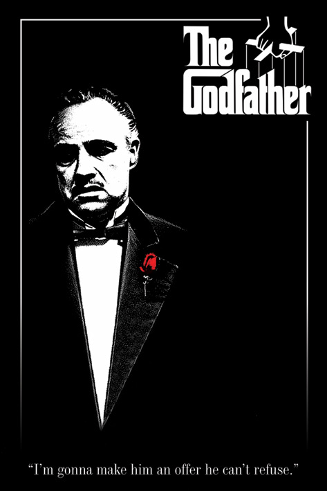 The Godfather: Red Rose Portrait Poster