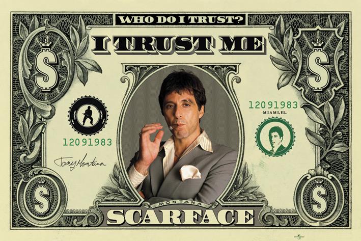 Scarface: Dollar Landscape Poster
