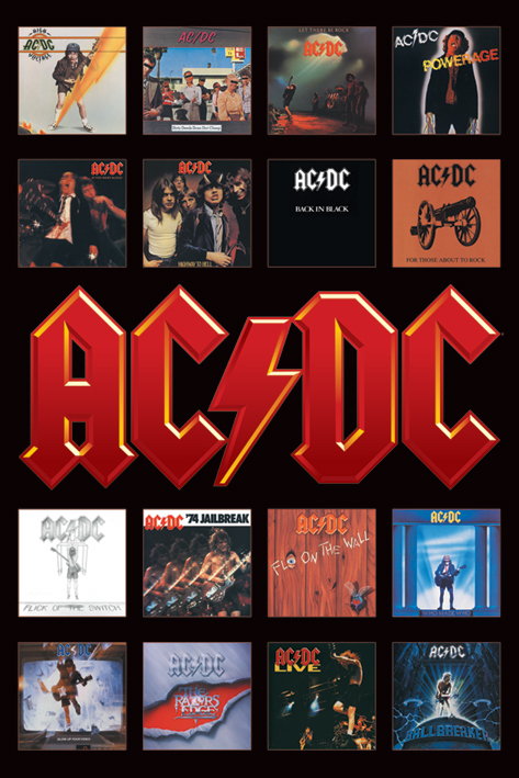AC/DC: Album Covers Portrait Poster