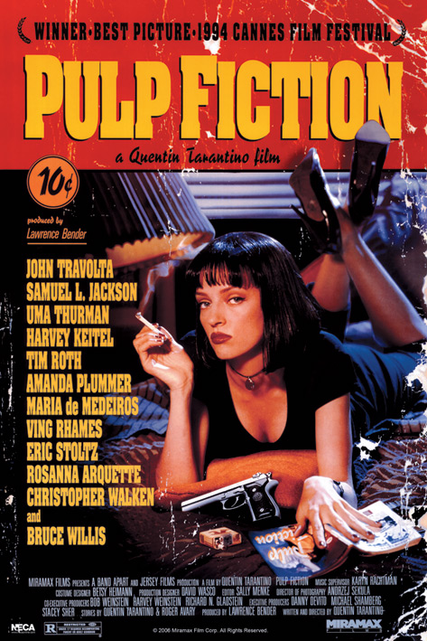 Pulp Fiction: Cover Portrait Poster