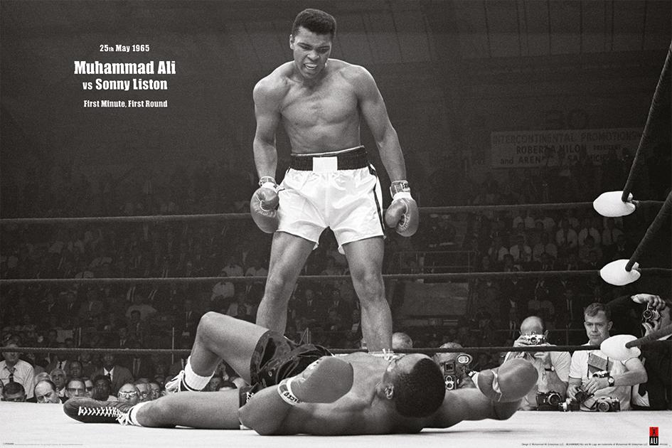 Muhammad Ali: v Liston Landscape Landscape Poster