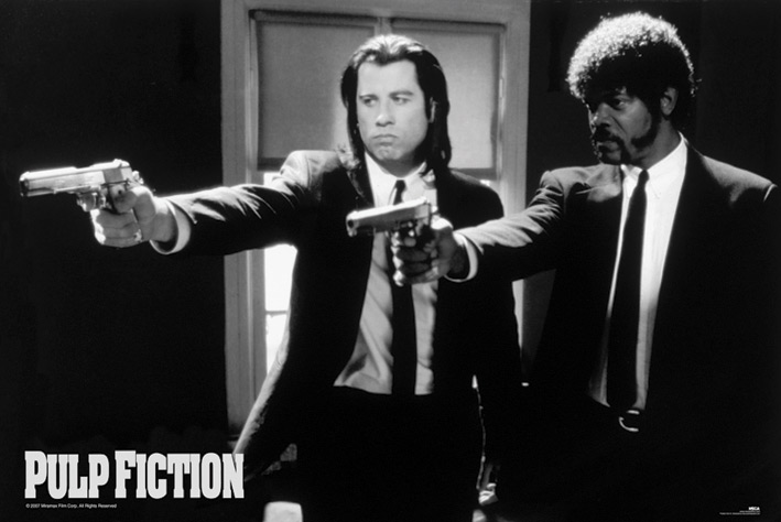 Pulp Fiction: B&W Guns Landscape Poster