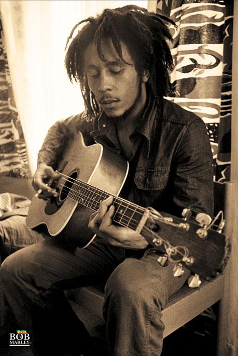 Bob Marley: Sepia Portrait Poster