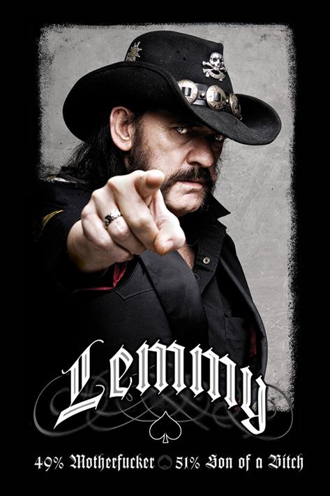 Lemmy: 49% Mofo Portrait Poster