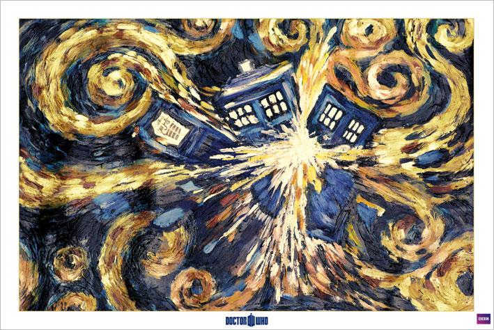Doctor Who: Exploding Tardis Landscape Poster