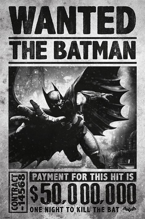 Batman Arkham Origins: Wanted Portrait Poster