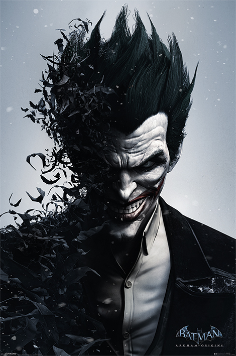 Batman Arkham Origins: Joker Portrait Poster