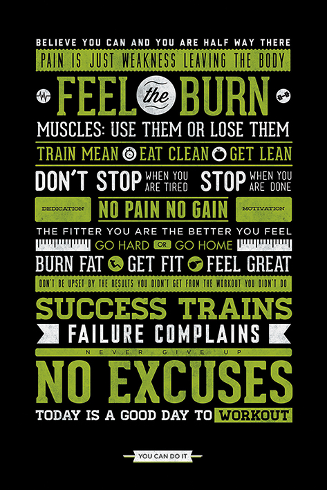 Gym Motivational Portrait Poster