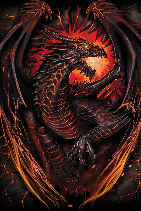 Spiral: Dragon Furnace Portrait Poster