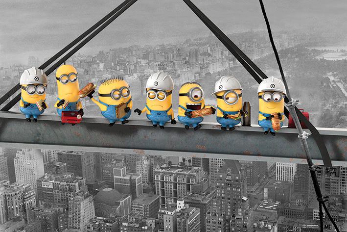 Despicable Me: Minions Lunch on a Skyscraper Landscape Poster