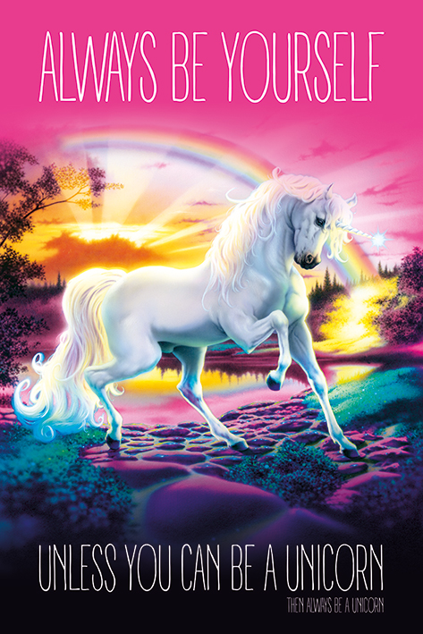 Unicorn: Always Be Yourself Portrait Poster